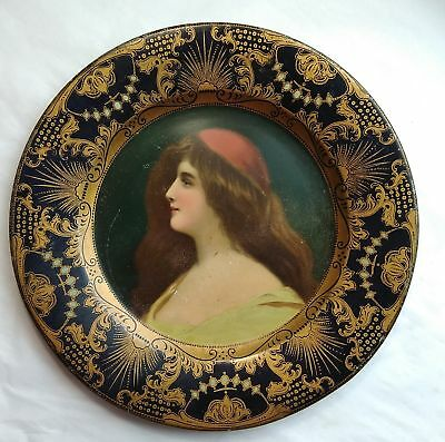 Antique Tin Lithographed Advertising Plate 1905 Havana Post Red Hat