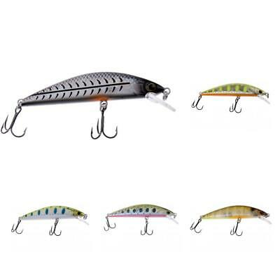 65mm/5g Hard Fishing Lures Crankbaits Hooks Minnow Baits Tackle Crank Bass