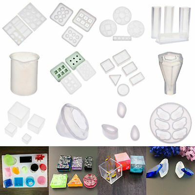 Silicone Mould Mold for DIY Resin Round Necklace jewelry Pendant Making Tool UK