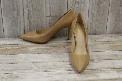7a8465fe8 NINE WEST FLAX Pointed Toe Leather Pumps, Women's Size 10M, Nude ...