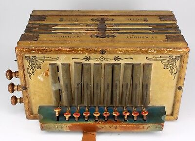 Antique Reeds Symphony Parsifal Melodeon Accordion Instrument - Germany