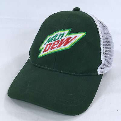 Mtn Dew Snapback Trucker Hat Mesh-Back Embroidered Green Baseball Cap Soda  Pop 96434e29d5e0