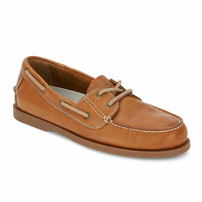 G.H. Bass & Co. Mens Asbury Classic Genuine Leather Boat Shoe with Rubber Sole