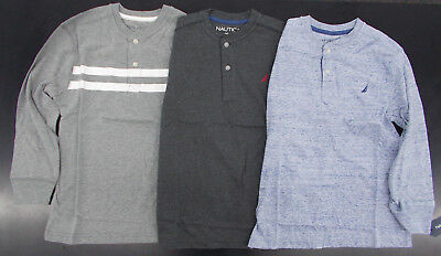 Boys Nautica $34.50 Assorted Long Sleeved Henley Shirts Size 8 - 18/20
