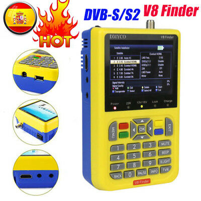 "3.5 ""LCD Display HD V8 Finder Digital Satellite Finder DVB-S2 FTA SAT Signal"