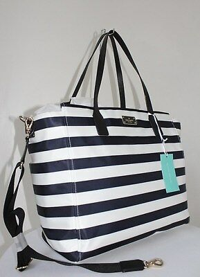 KATE SPADE Blake Avenue Taden Baby Bag WKRU3524 Off Shore/Cream Stripe NWT