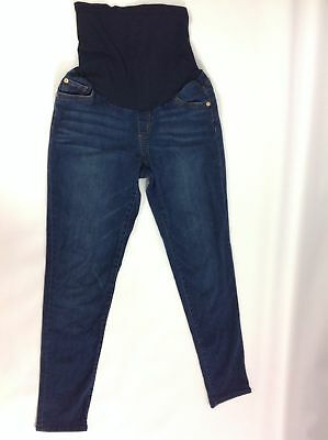 ffeaf63977a27 Led Luxe Essentials Denim F4 Womens Maternity Jeans Ribbed Waist Blue Size  30