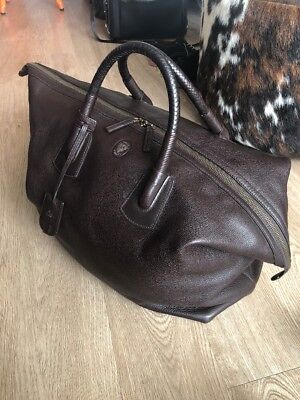 6a8dfc0b85a6 GUCCI LEATHER CARRY-ON Duffel Bag, Brown, Large, MSRP $3,495 Runway ...