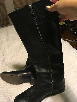 "Euc tall ""paige� Riding Black Boots Womens Frye Size Leather Kcl13uFTJ"