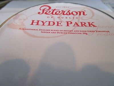 Rare, SEALED PETERSON HYDE PARK COLLECTIBLE Pipe Tobacco Tin 50 gr