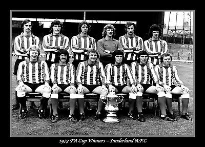 Photograph/Print/7 x 5 inch/1973 FA Cup/Final/Winners/Wembley/Sunderland