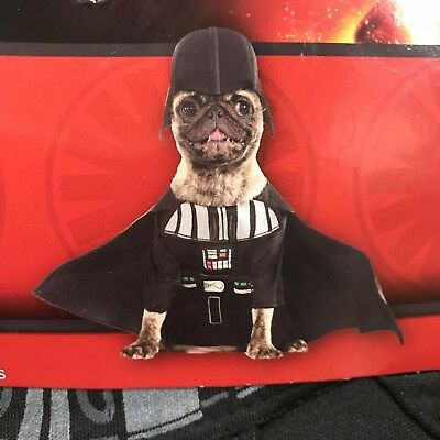 Disney Star Wars Darth Vader Pet Dog Halloween Party Costume with Headpiece