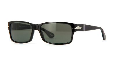 3b23cbe6c73 Persol 2803-S 95 58 Sunglasses Black Frame Green Grey Polarized Lenses 58mm