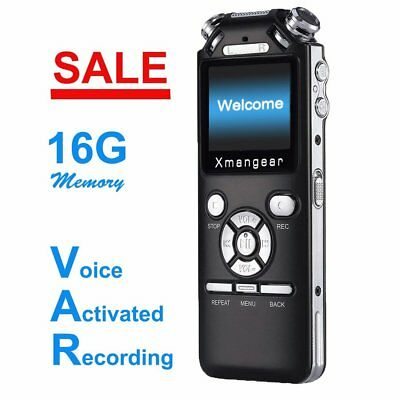 """Voice Activated Digital Listening Device / Audio Bug 8GB """"Bugging"""" Spy Recorder"""