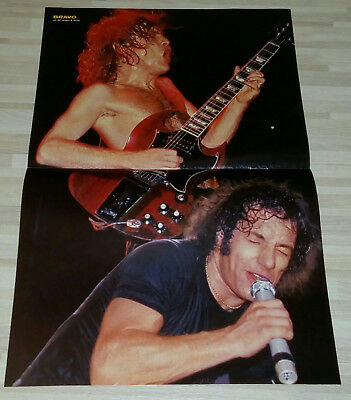 AC/DC article poster Germany Europe RARE ANGUS MALCOLM YOUNG BRIAN JOHNSON