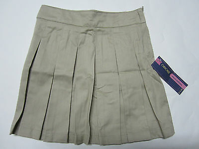 New Girls School Uniform Tan Pleated Scooters, Size 6x, Free Shipping !