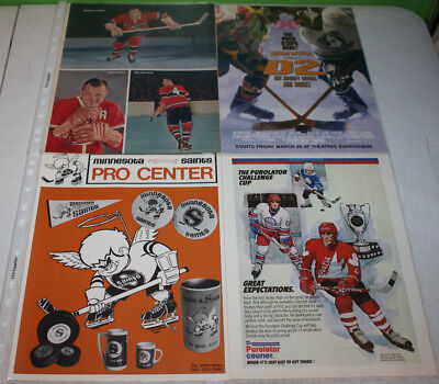 Vintage Hockey Print Ad and Magazine Cutout Part A | You Pick