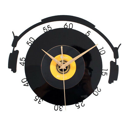 Blesiya Battery Operated Antique Vinyl CD Record Wall Clock Collectable Gift