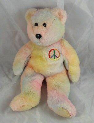 Ty Peace Teddy Bear Sherbert 13 inches Beanie Babies Collections