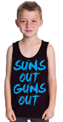 huge discount cd918 30c97 Boy s Tank Top Suns Out Guns Out Youth Kids Summer Beach Muscle Funny T  shirt