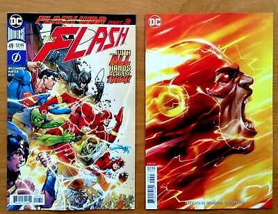 Flash 49 Covers A & Francesco Mattina Cover B Variant 1st Prints DC 2018 NM