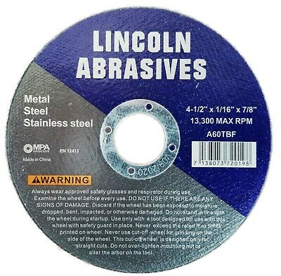 """400 Pack 4-1/2"""" 1/16"""" Cut-off Wheel 4.5 Cutting Discs Stainless Steel & Metal"""
