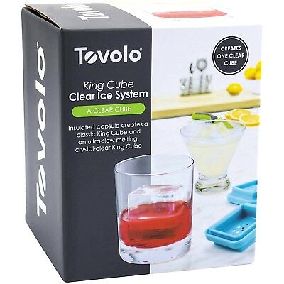 Tovolo King Cube Clear Ice System Big Icecube Maker Whiskey Vodka FREE FAST SHIP