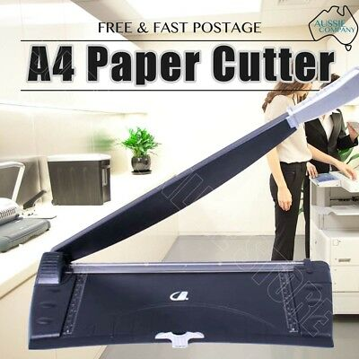 A4 Size Paper Photo Film Trimmer Knife Metal 6 Sheets Capacity Cutter Guillotine