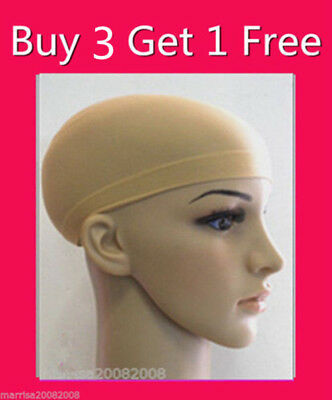 NEW SOFT WIG CAP / STOCKING  CAP --- CONTROL HAIR UNDER WIG * Beige*  3+1