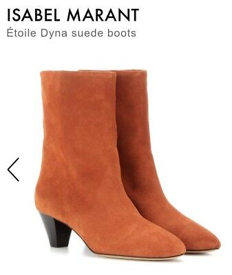 2d82c821bee0 ISABEL MARANT ETOILE Dyna suede ankle mid-calf slouch boots orange ...
