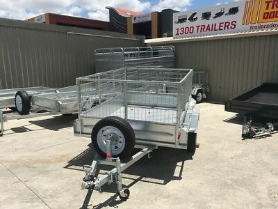"7x5  GALVANISED TRAILER - HEAVY DUTY | FULL CHECKERPLATE | 12"" SIDES"