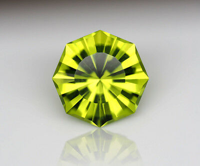 1.39 ct Precision cut Arizona Peridot. Natural, clean and untreated loose gem.