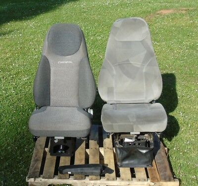 LOT OF 2, National AIR Ride TRUCK SEAT, Adjustable, Semi Truck, Volvo, cloth