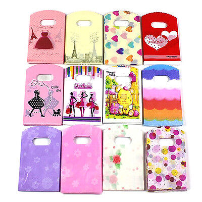 50pcs Wholesale Lots Pretty Mixed Pattern Plastic Gift Bag Shopping Bag 15*9·~