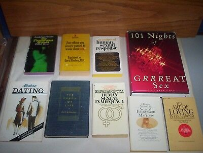 Lot of 9 Vintage Sex & Sexuality + Love & Dating Books & Great Sex Harmony Kinky
