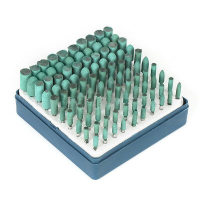100x Abrasive Rubber Polishing Head, Polishing Abrasion Kit Tool Z6Y6