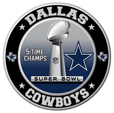 Dallas Cowboys Super Bowl Championship Sticker, NFL Decal 8 Different Sizes