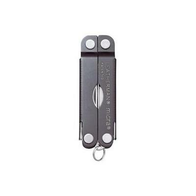 BRAND NEW Leatherman Micra Stainless Keyring Multitool (Gray)(64380101K)