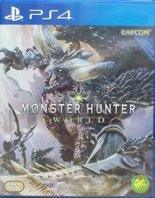 Monster Hunter World Asia Chinese/English/Japanese etc subtitle PS4 PreOwned