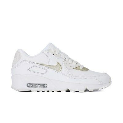 NIKE AIR MAX 90 Ltr GS 833376103 white halfshoes $179.99