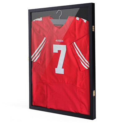 LARGE SPORTS JERSEY Shadow Box Wall Display Case Rack - Jersey Frame ... b11414810