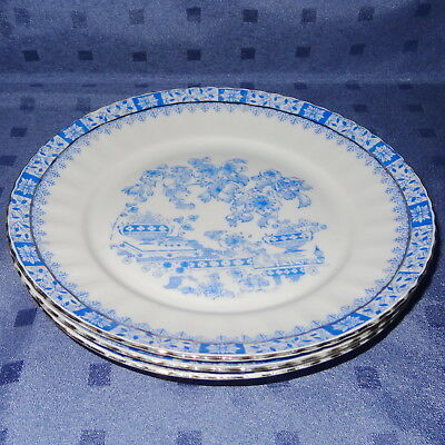 ๑ஜ Bavaria CHINA BLAU -  Drei Kuchenteller, Dm 19
