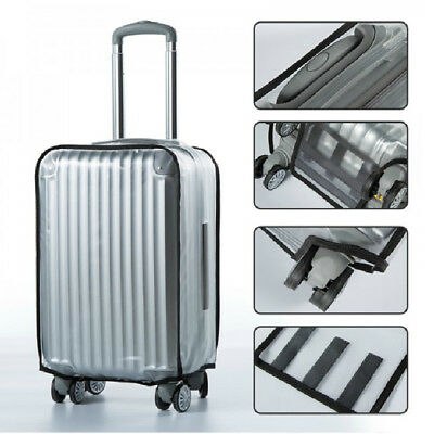 Dust-proof luggage cover transparent waterproof clear suitcase protective bags S