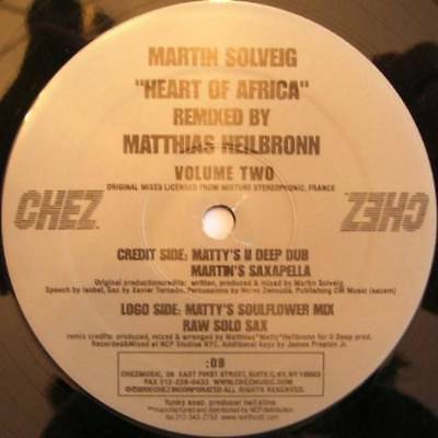 "12"": Martin Solveig - Heart Of Africa (Volume Two) - Chez Music - CHEZ-009"