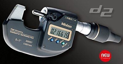 MITUTOYO 293-100-10 Sub-Micron Digimatic Micrometer, 0-25mm Range, 0.0001mm