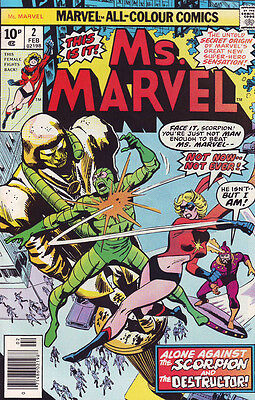 Marvel Comic Ms.Marvel No 2 February 1977