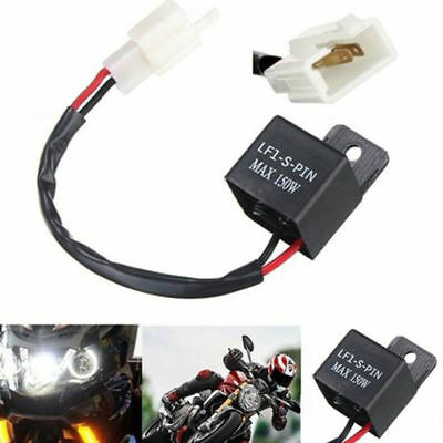 2Pin Electronic LED Flasher Relay FIX Motorcycle Turn Signal Bulbs Hyper Flash T