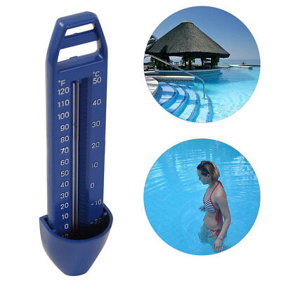 -20~50℃ Swimming Pool Spa Hot Tub Bath Temperature Thermometer Outdoor Blue