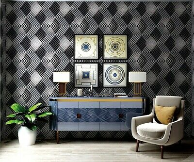 "32.8'x 20.8"" Roll - Polygonal Geometric Vinyl Coated Wallpaper - 57 sqft"