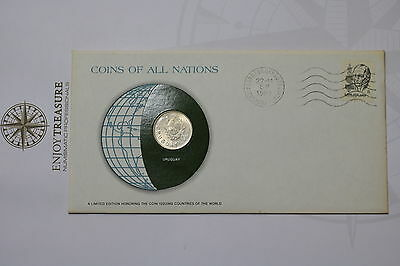 Uruguay 1 Peso 1980 Coins Of All Nations Cover Frank. Mint A61 #can85